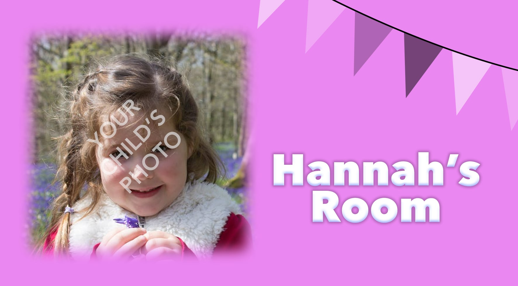 pink theme with personalised photo